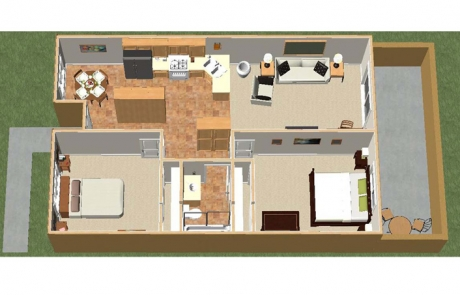 desert gardens floorplan 2bd furnished