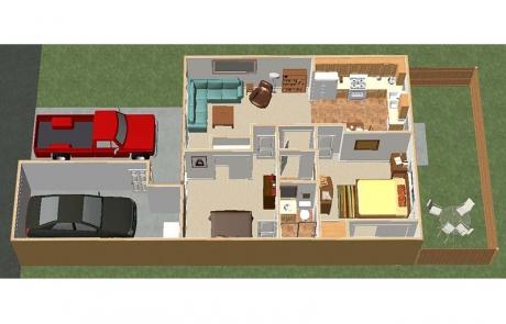 desert hacienda floorplan furnished