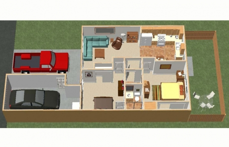 desert villas floor plan 1 bedroom