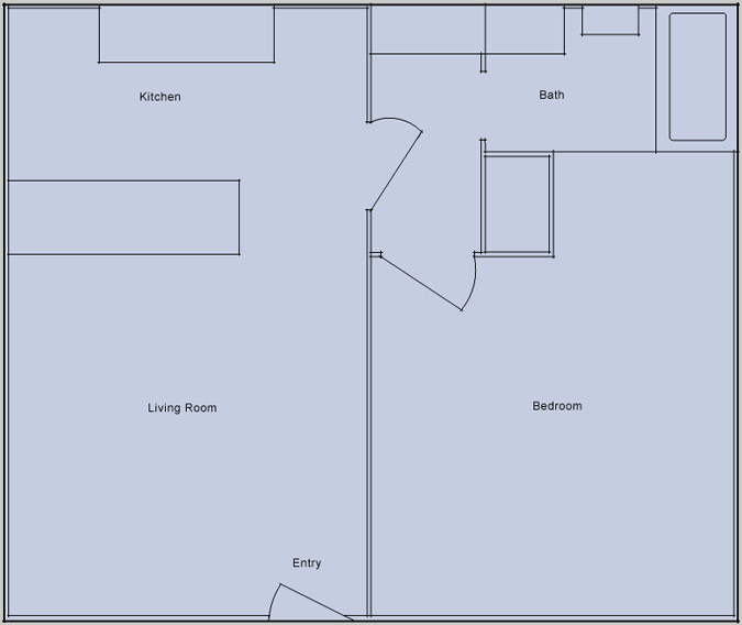desert nights 1 bedroom floorplan