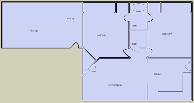 desert hacienda 2 bedroom floorplan