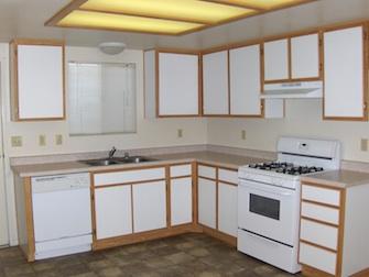 desert hacienda apartments kitchen