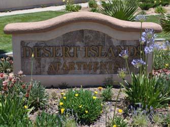 desert islands apartments sign