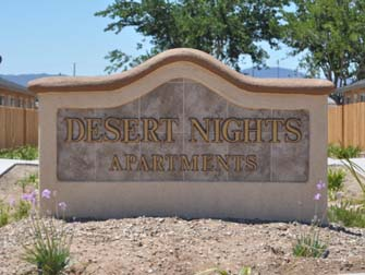 desert nights sign