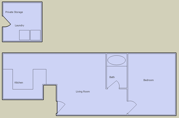 desert oasis 1 bedroom floorplan