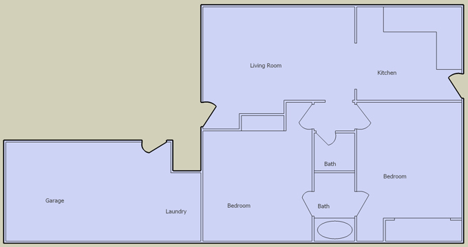 desert oasis 2 bedroom floorplan