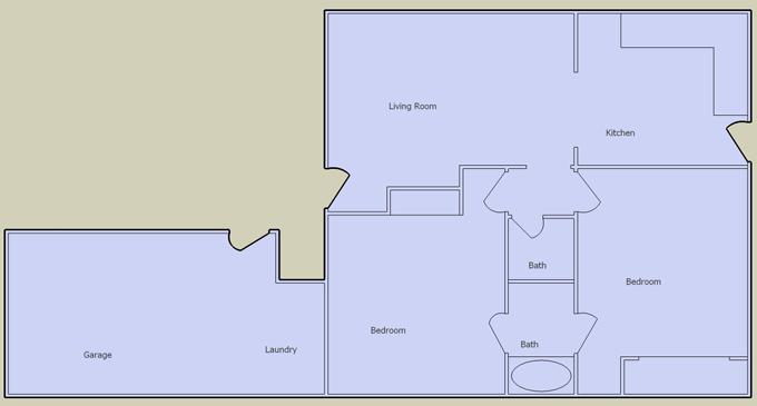 desert terrace 2 bedroom floorplan