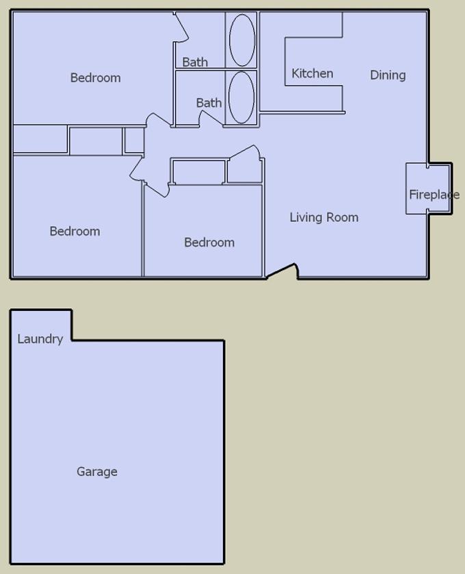 desert terrace 3 bedroom floorplan