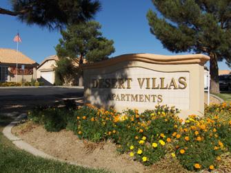desert villas apartments sign