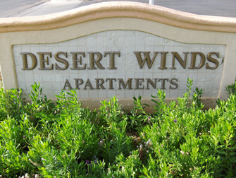 desert winds apartments sign