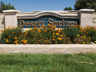 desert springs apartments sign