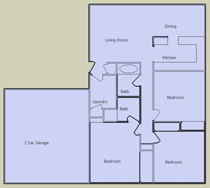 desert breeze 3 bedroom floorplan