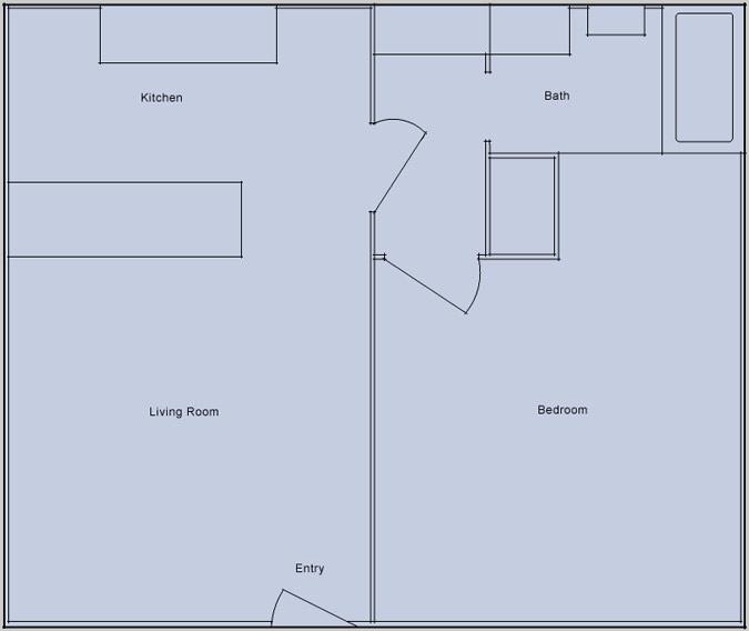 desert luna 1 bedroom floorplan