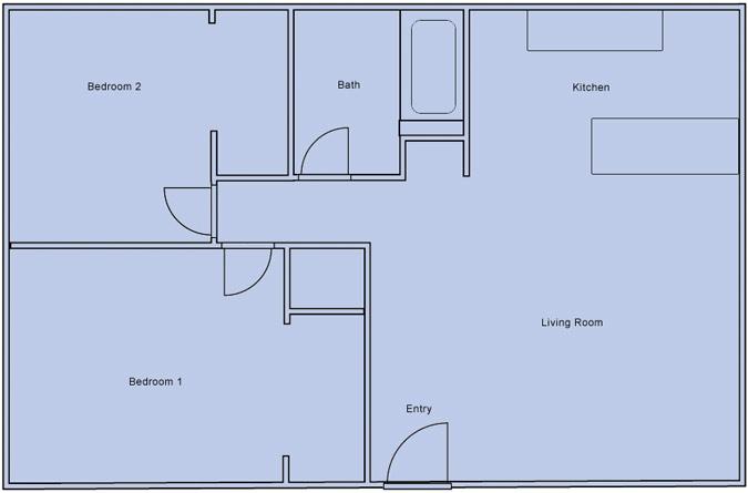 desert luna 2 bedroom floorplan