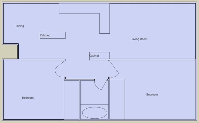 desert gardens 2 bedroom floorplan