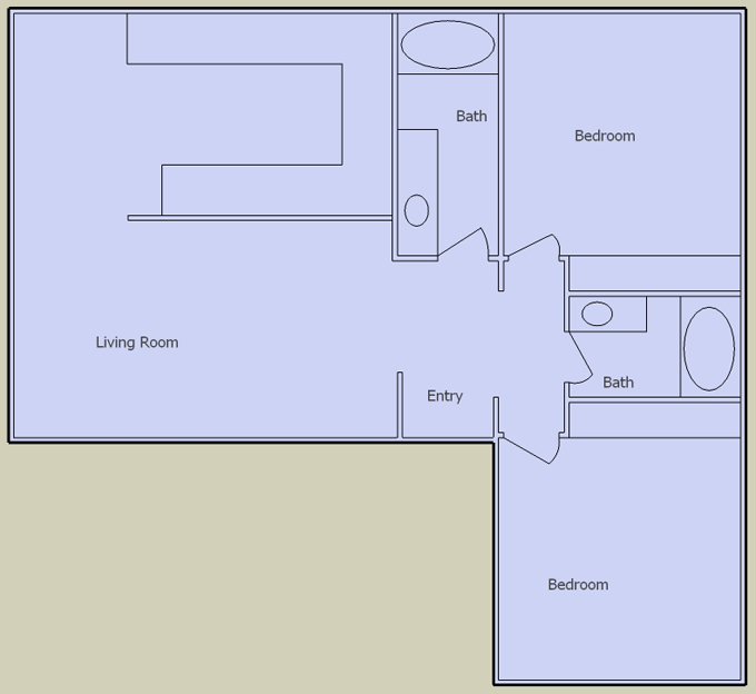 desert springs 2 bedroom floorplan