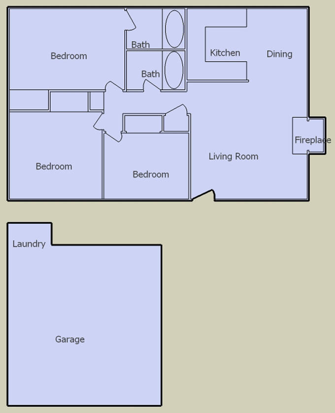 desert terrace 3 bedroom floorplan