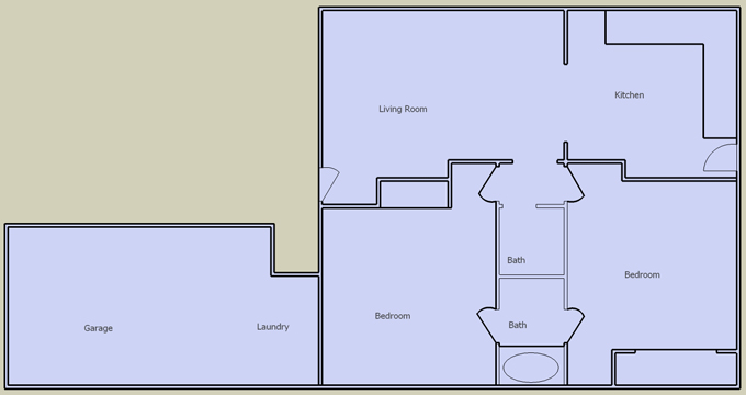 desert villas 2 bedroom floorplan