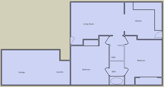 desert villas 2 bedroom floorplan